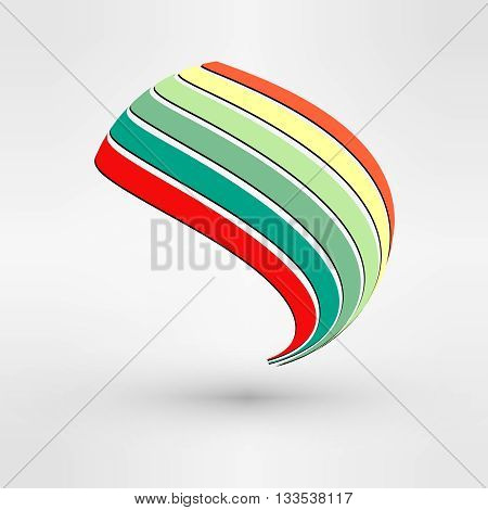 Vector Logo Design. Icon Concept. Abstract Leaf. Wind energy power, renewable resource vector illustration. Green electricity