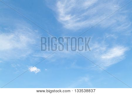 clouds in the blue sky. The vast blue sky and Clouds white fluffy.