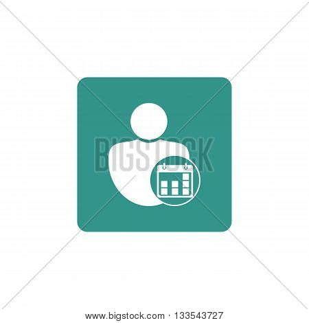 User Date Icon In Vector Format. Premium Quality User Date Symbol. Web Graphic User Date Sign On Gre
