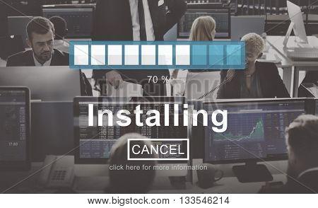 Installing Loading Progress Indicator Concept