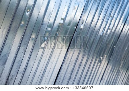 Corrugated Metal Fence, Industrial Wall Texture