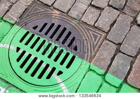 Urban Street Drainage Sewer Manhole