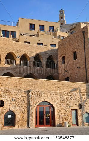 Building in residential quarter in old Jaffa. Israel.