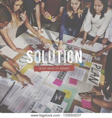 Solution Problem Solving Decision Research Result Concept