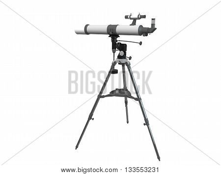 3D rendering of a telescope isolated on white background
