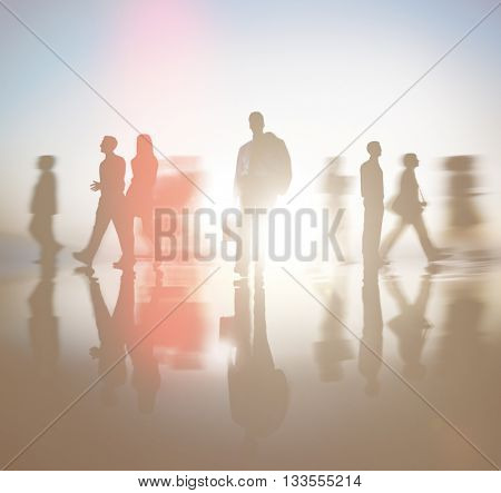Group of Business People in the City