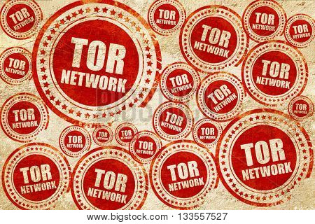tor network, red stamp on a grunge paper texture