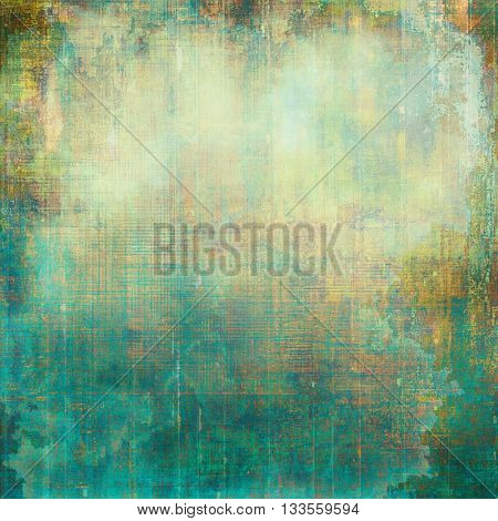 Scratched grunge background or spotted vintage texture. With different color patterns: yellow (beige); brown; green; blue; cyan