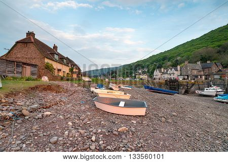 Porlock Weir a village on the Somerset coast