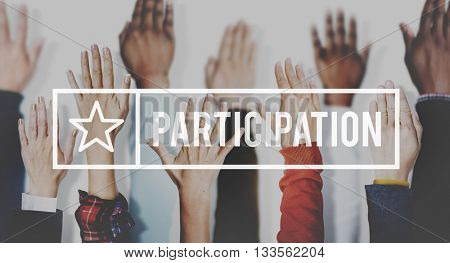 Participation Join Help Involvement Concept