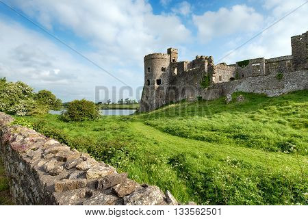 Carew Castle In Pembrokeshire