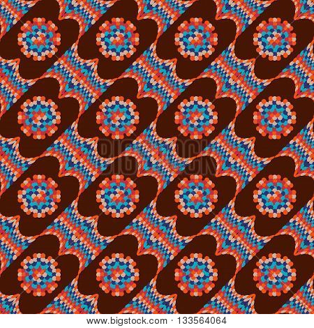 Background vector illustration of colorful kaleidoscope seamless pattern.
