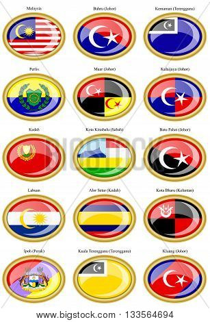 Flags Of The Malaysian States And Cities