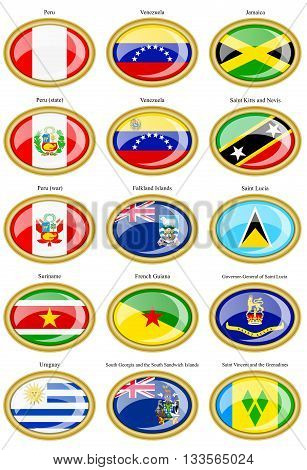Flags Of The South And Central America