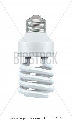 Fluorescent Light Bulb isolated on white with clipping path, 3d rendering