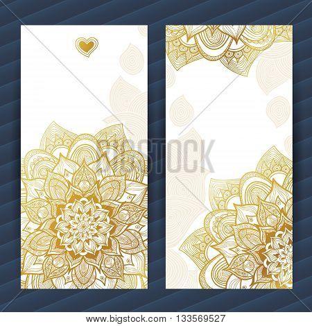 Golden Vintage Ornate Cards.