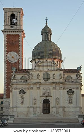 The Church of St. Mary of Mount Berico in Vicenza Italy