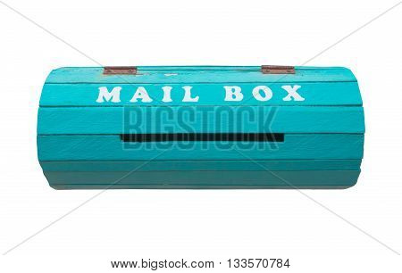 A vintage mailbox isolate white background for background