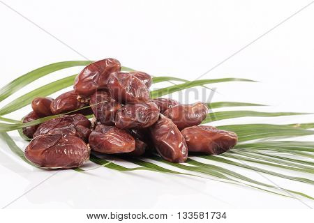 Dates With Palm Leaves