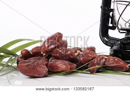 Heap Of Dates Fruit Close Up