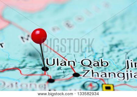 Ulan Qab pinned on a map of China