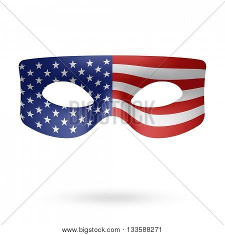 USA Flag Masquerade Mask vector illustration
