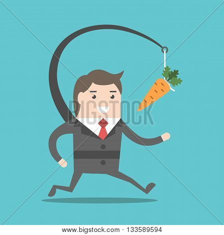 Businessman Chasing Carrot