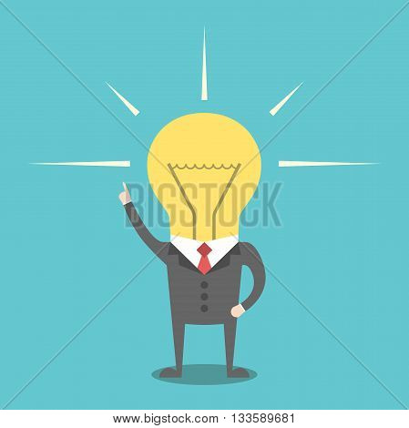 Businessman With Lightbulb Head