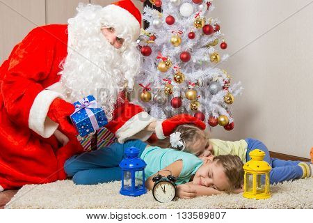 Santa Claus Brought Gifts, Pats On The Head Of Sleeping Children, And Looked Into The Frame
