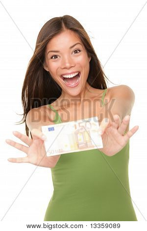Euro Money Woman