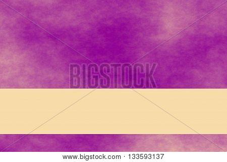 Purple and vanilla colored smoky background with vanilla colored background