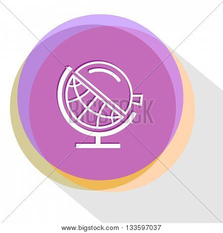 globe and loupe. Internet template. Vector icon.
