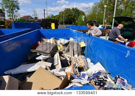 Hauts de Seine France - may 3 2016 : a recycling centre