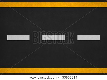asphalt road top view with white dashed line