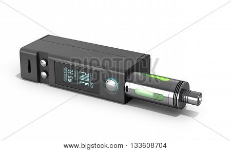 Electronic Cigaretts Device Box Mod To Smokeless Smoking 3D Render On White