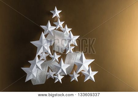 White Stars And Silver Ribbon