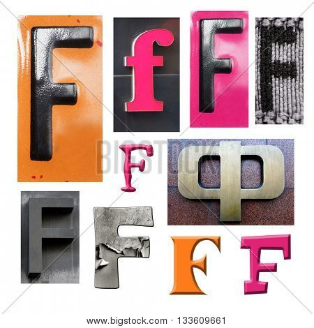 Collection alphabet. Letter F