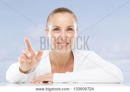 Woman on seaside