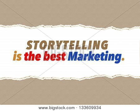 Storytelling is the best Marketing business concept
