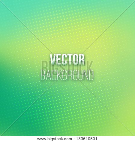 Colorful blurred background with halftone effect. Colorful gradient. Dotted pattern. Shiny abstract background. Smooth colorful background. Vector illustration.