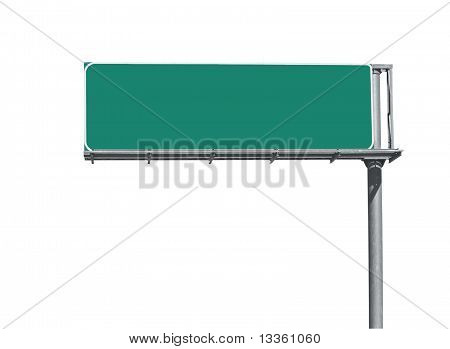 Blank Freeway Sign