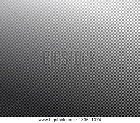Transparency grid texture vector pattern with black and white gradient. Transparency grid background. Checkered background. Vector illustration