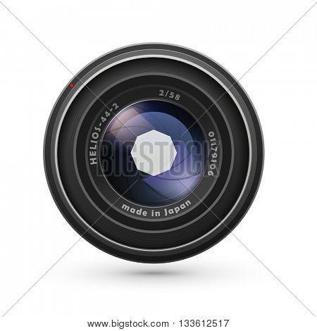 Photo lens isolated on white