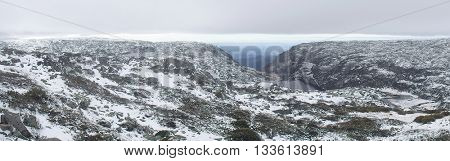 beautiful mountain with snow