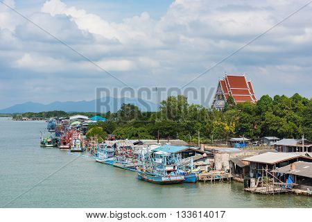 Fisherman village is located at estuary in Chanthaburi province Thailand.