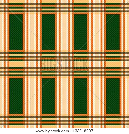 Seamless Rectangular Pattern In Orange And Green