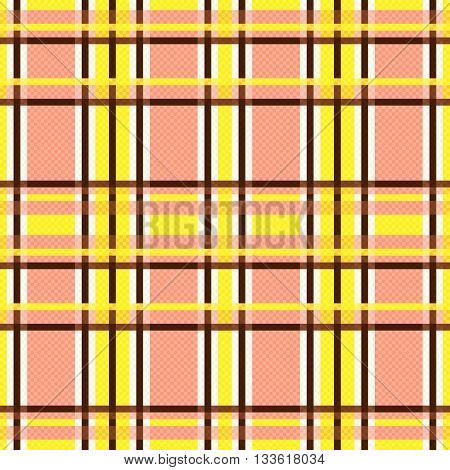 Seamless Rectangular Pattern In Yellow And Terracotta