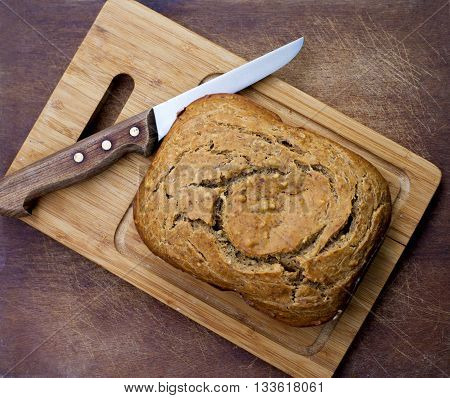 Homemade Bread And Knife