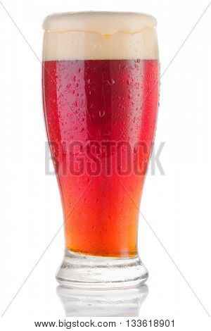 cherry beer on a white background