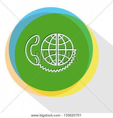 global communication. Internet template. Vector icon.